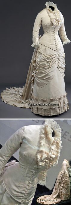 Wedding dress ca. 1878–80. McCord Museum via La Bible Urbaine, Style List Quebec, & Annie Penin blog