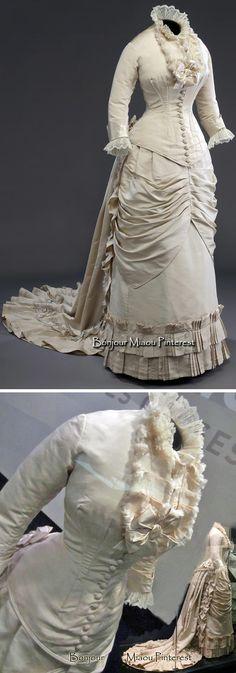 Wedding dress ca. 1878–80. McCord Museum via La Bible Urbaine, Style List Quebec, & Annie Penin blog