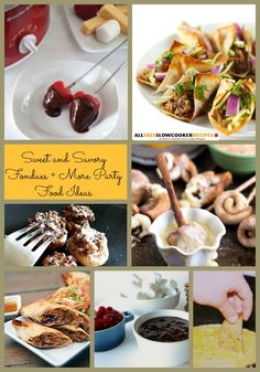 285 Best Recipes For A Party Images Appetizer Recipes Crockpot