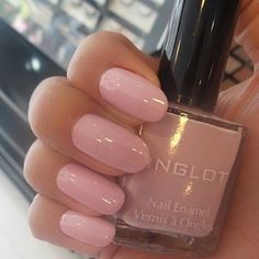 Instagram photo by vegas_nay - Always love a pinkish neutral like this mani by @mahamkbeauty ..she used Inglot nail Polish in #385✨