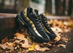 Nike Air Max 95 Hommess Met Toutic Prime Noir/Gold Essentiel Sportifs Chaussures 538416-007