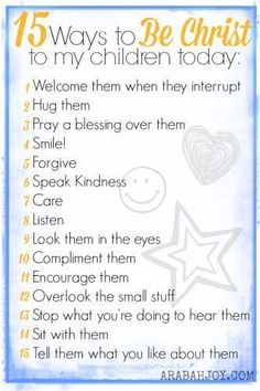 15 Ways to be Christ to My Children Today.