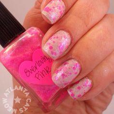 Lynnderella Everloving Pink over China Glaze Keep Calm Paint On