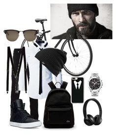 """Untitled #2433"" by princhelle-mack on Polyvore featuring Versace, TAG Heuer, Beats by Dr. Dre, Supra, Lacoste, Casetify, Topman, Tom Ford, Burton and men's fashion"