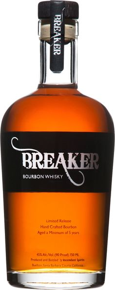 Breaker Hand Crafted Bourbon #Whiskey.  This California #bourbon, which is blended from just eight barrels per batch, won the Double Gold Medal at the San Francisco World Spirits Competition in 2014. | @Caskers