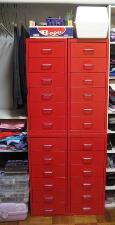 These Helmer drawers from Ikea seem like they'd make great storage for craft punches,,,,Angieycho_bedroom_rect540
