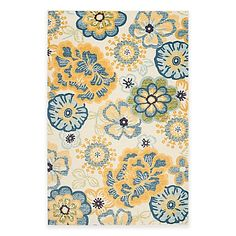 Safavieh Evoke Collection Floral Rug in Cream/Gold