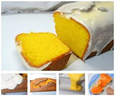 #RECETA -> #Budin de #mandarina en #licuadora Pan Dulce, My Dessert, Almond Cakes, Diy Cake, Pound Cake, Baking Pans, Afternoon Tea, Cupcake Cakes, Cupcakes