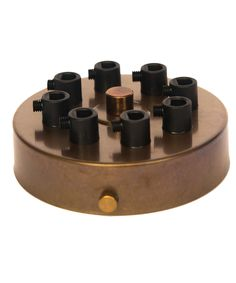 William and Watson ceiling roses Industrial Multiple cable outlet Old English Bronze Ceiling Rose 8 way holes angle