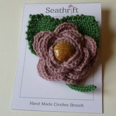 Crochet and Knitted Brooch