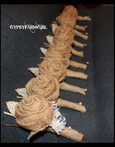 Burlap Rustic Wedding ideas by JJurate