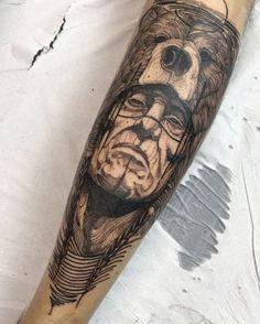 Instagram photo by fredao_oliveira - Shaman do Artur Muito obrigado man Feito na @inkonik_tattoo_studio #electricink