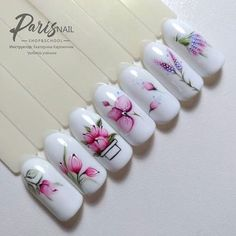 Manicure And Pedicure, Gel Nails, Water Color Nails, Easter Nails, Flower Nail Art, Gorgeous Nails, Trendy Nails, Spring Nails, Nail Art Designs