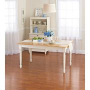 Better Homes and Gardens Autumn Lane Farmhouse Dining Table, White and Natural Sale