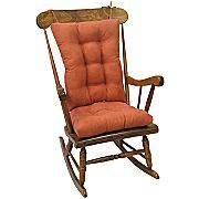 """New cover for my old chair/ bye bye 12 year old ugly plaid chair cover....I like this color """"clay""""."""
