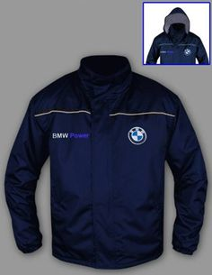 BMW POWER, Windbreaker Jacket, 2 Front pockets, Inside pocket, 100% Polyester ,Logo on front and back, Zipped, Hood in the collar, Size - S, M, L, XL, XXL, XXXL, PRICE $63