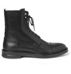 1e9293fa896e Alexander McQueen Leather Boots Bottes De Marque Pour Hommes, M. Porter, Alexander  Mcqueen