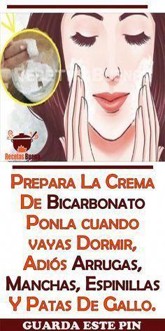 Prepara La Crema De Bicarbonato Ponla cuando vayas Dormir, Adiós Arrugas, Manchas, Espinillas Y Patas De Gallo #mascarilla #belleza #bicarbonato #arrugas #espinilla #rostro #ConcealerTips
