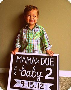 cute pregnancy announcement no! Not pregnant again. Idea for future!