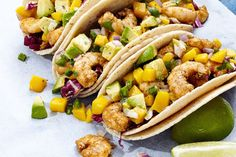 Cajun Shrimp Tacos with Mango-Avocado Salsa