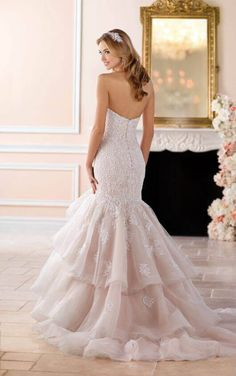 6405+ Dramatic Lace Plus Size Fit and Flare Wedding Dress by Stella York
