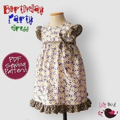 Birthday party dress by lilybird studio. $8 These are downloadable instructions and pattern for making a dress.