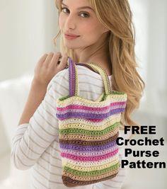 How To Crochet A Spring Day Bag | DIY Crochet Purse | DIY Fashion | FREE Crochet Pattern