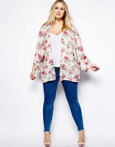 Imagen 4 de Kimono con estampado de rosas de Alice & You