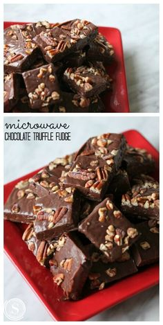 Microwave Chocolate Truffle Fudge