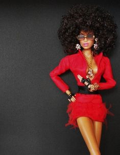 If Barbie were an Aries, this is what she would look like. Get um girl! Chic Chic, Fashion Royalty Dolls, Fashion Dolls, Diva Dolls, African American Dolls, Beautiful Barbie Dolls, Black Barbie, Barbie World, Barbie Barbie