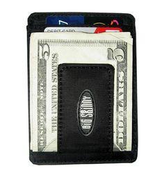 Big Skinny Black Slim Magnetic Money Clip Wallet #walletnation
