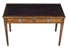 Antique Desk - English Writing Table with Brown Leather » English Classics