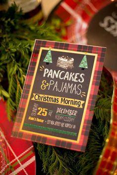 Pancakes and pajamas themed?