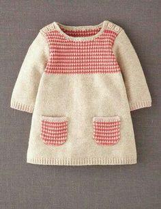 Crochet Dress Baby Girl Knitted Jumper Dress H&m Knitting For Kids, Baby Knitting Patterns, Baby Patterns, Dress Patterns, Baby Outfits, Toddler Outfits, Kids Outfits, Knit Baby Dress, Knitted Baby Clothes