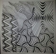 Zonked. Zigazigah. Xenso. Wadical. | Zentangle, art by Carol ...