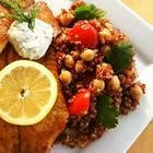 Quinoa with Chickpeas and Tomatoes - made this tonight for some work lunches... Mmmm