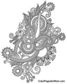 Paisley Coloring Page 37