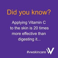 The IMAGE Skincare Vital C range is packed full of vitamin C. Purchase at www.vwskincare.co.uk