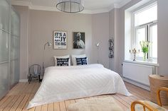 60 Unbelievably inspiring small bedroom design ideas More of a taupey gray - the other gray is better