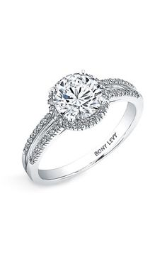 Bony Levy 'Bridal' Pavé Diamond Setting