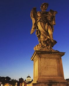 """""""Rome is not like any other city it's a big museum a living room that shall be crossed on one's tiptoes""""  #albertosordi  #Rome #angel #sunset #twilight #architecture  #city #wandering #art #TagsForLikes #picture #artist #artsy #instaart #beautiful #instagood #gallery #masterpiece #photooftheday #instaartist #artoftheday #sky #magic #statue #sanpietro #romebynight #june #photography"""