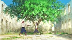 """peachmuncher: """"""""The Boy and The Beast"""" (Bakemono no Ko) animated feature film by Mamoru Hosoda (Wolf Children, Summer Wars, The Girl Who Leapt Through Time), premiering in Japan on the 11th July 2015. """""""