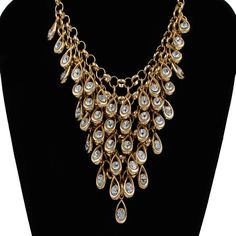 Punk Elegant Multi Layer Necklace Gold Plated Women Brand Jewelry, New Charms Vintage Choker Necklace Wholesale Imported China