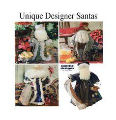 Large 26 Santa Claus Designer Jana Beus: by FindCraftyPatterns