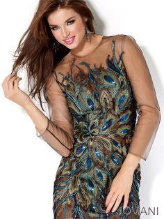 Jovani short peacock dress $450.00