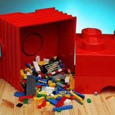 Store your toys in these cool Lego storage bricks. #CraveIt #kids #fun