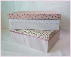 """Today I'll show you how I get my homemade cardboard box with fabric. In my post """"making carton – craft instructions"""" I have … - Diy Crafts Diy For Teens, Diy For Kids, Fabric Art, Fabric Crafts, Home Crafts, Diy And Crafts, Woodworking Shows, Cardboard Crafts, Mason Jar Diy"""