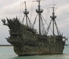 "This is Blackbeard's ship, the Queen Anne's Revenge, used in the filming of Disney's ""The Pirates of the Caribbean ~ On Stranger Tides""."