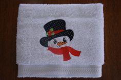 Handdoek met sneeuwman                             (Towel with snowman)