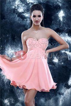 ExquisitoSandra's Vestido de Cóctel con Cuello Corazón y Silueta Línea-A (Envío Gratuito )